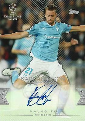 2015-16 Topps UEFA Champions League Showcase Base Card Certified Autograph