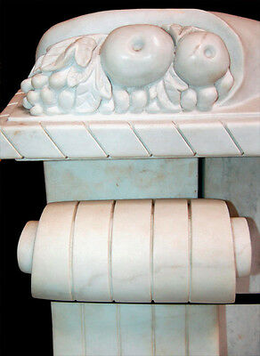 White Marble Throne Chair with Carved Sphinxes #5232 4