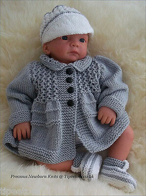 Baby Knitting Pattern Boys Or Reborn Dolls To Knit Tommy Coat