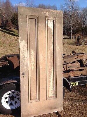 Antique Two Panel Exterior Door 2