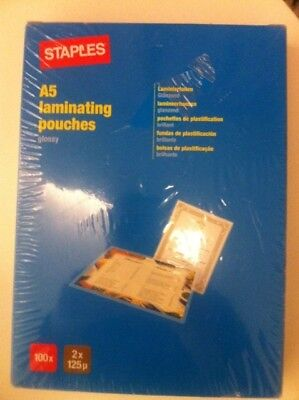 Staples A5 Laminating Pounches 100X 5