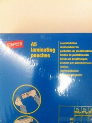 Staples A5 Laminating Pounches 100X 7