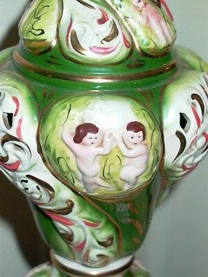 2 Capodimonte Italy Antique Porcelain Cherub Table Lamp Lamps 5