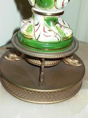 2 Capodimonte Italy Antique Porcelain Cherub Table Lamp Lamps 8