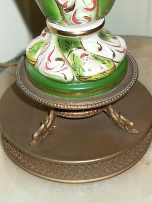 2 Capodimonte Italy Antique Porcelain Cherub Table Lamp Lamps 9