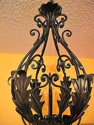 Classic light fixture CHANDELIER CAST IRON VINTAGE FRENCH PROVINCIAL 3