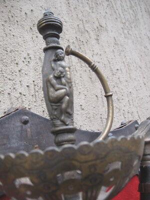 PANNELLO LEGNO CON 3 Spade Da Ornamento In Ferro Con