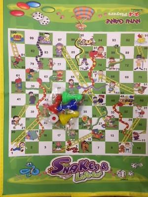 ONEX Mini Ludo Snakes & Ladders Play Mat Travel  Children Board Game Gift.. 4