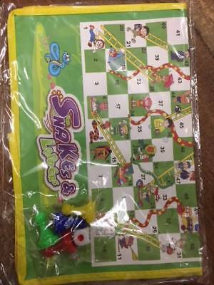 ONEX Mini Ludo Snakes & Ladders Play Mat Travel  Children Board Game Gift.. 3