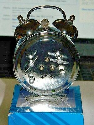 Chrome Silver Old Fashioned Alarm Clock Wind Up No Batteries Required USA Stock 3