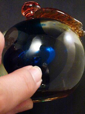 "Stunning Pair Of ""Barbini"" Murano Art Glass Figural Fruit Bookends 8"