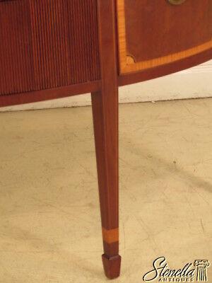 23700E: KITTINGER 1/2 Round Inlaid Mahogany Sideboard w. Satinwood Inlay 4