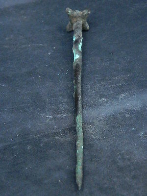 Ancient Large Size Bronze Seal Pin Roman 200 BC No Reserve #S4713 5