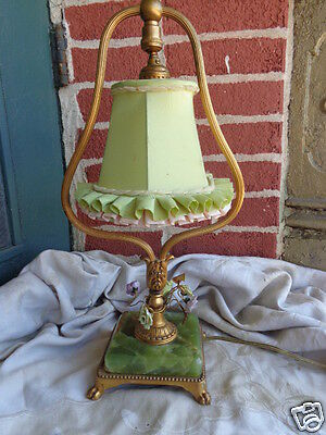 Lamps Antiques Vintage French Provincial Style Figuiral Boudoir Table Lamp Man Porcelain