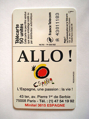 Phonecard Telecarte Espana Espagne Hola Chateau France Telecom 2 • EUR 2,97