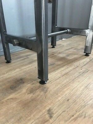 Cafe/Bistro/Bar/Poser Table and Stool Set. Industrial Steel /Reclaimed Wood 4