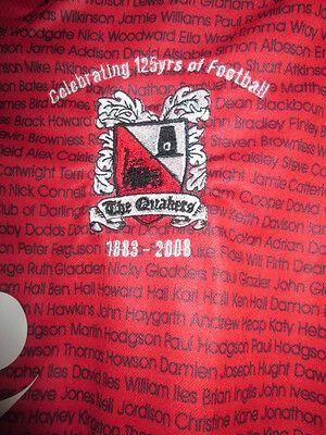 "Darlington 2007-2008 Limited Edition Away Football Shirt Size 24""-26""  YXS /sh 2"