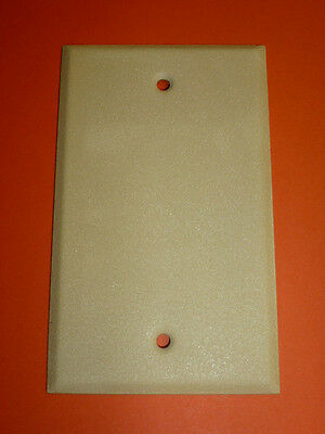 Nos! (2) Bell Electric Blank Ivory Crackle Single Gang Wall Plate, 3