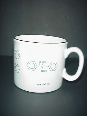 Chimica Tazza di Caffè Tinuvin Irgacure Molecules Realizzato Inghilterra 3
