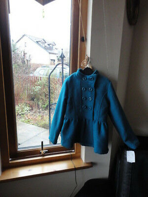 Stunning Teal Double Breasted Jacket from ONME, Size 7-8yo,New with tags 6