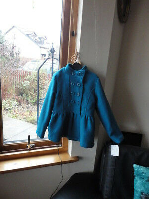 Stunning Teal Double Breasted Jacket from ONME, Size 7-8yo,New with tags 8