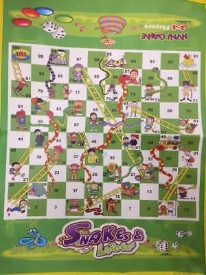 OneX Ludo Giant Snakes and Ladders or Ludo Play Traditional Children Game 2