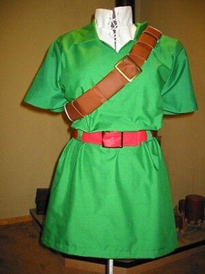 Link Costume Zelda Cosplay deluxe Ocarina of Time Kids custom made IN AMERICA