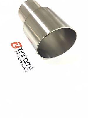 Zinram Edelstahl Endrohr Endrohre Tailpipes Ø63,5mm auf Ø85mm