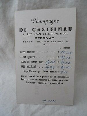 1 Sur 2Livraison Gratuite 8 Ancienne Carte De Visite Reprsentant Pub Champagne Castelnau Epernay