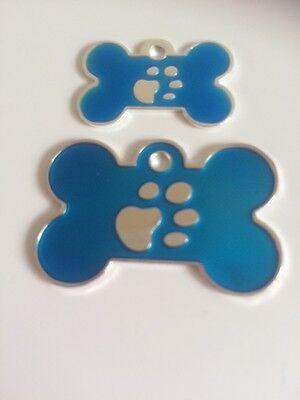 Elegance Paw Print Engraved Cat/Dog/Pet ID NAME tags BONE/DISC Variations.... 4
