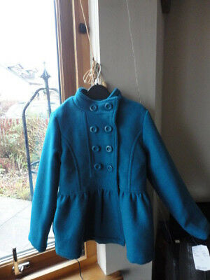 Stunning Teal Double Breasted Jacket from ONME, Size 7-8yo,New with tags 3