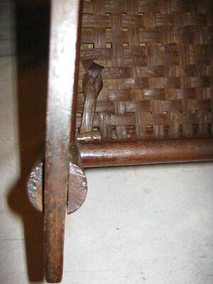 Antique Child Wood Primitive Country Farm Rocking Chair Toy Doll Splint Folk Art 7