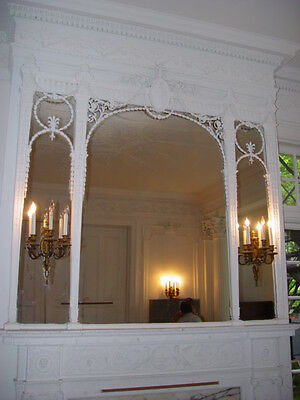 Fireplace Surround Mantel Fluted Columns Wall Panels Full Mansion Room Adams Sty 6