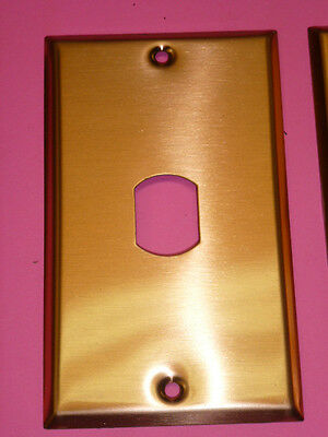 Nos! (2) Bell Interchange Single Gang Copper Finish Wall Plate, Vertical, 2-Hole