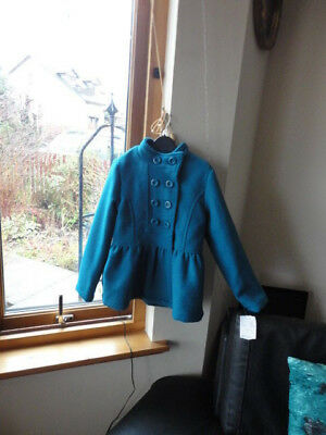 Stunning Teal Double Breasted Jacket from ONME, Size 7-8yo,New with tags 9