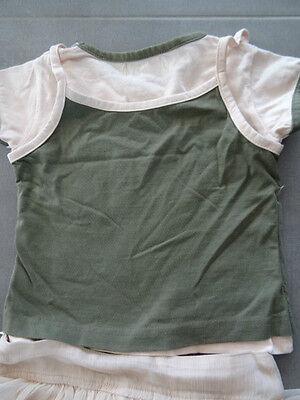 Ensemble jupe rose TAPE A L'OEIL + t-shirt kaki et rose imprimé Taille 3 ans 5