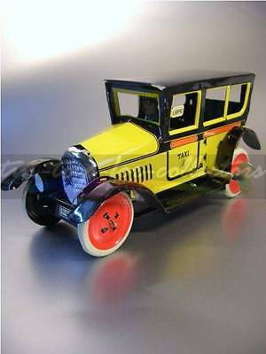 2 Paya Taxi Rot + Gelb  Lithographiertes Blech Mit Uhrwerk 4