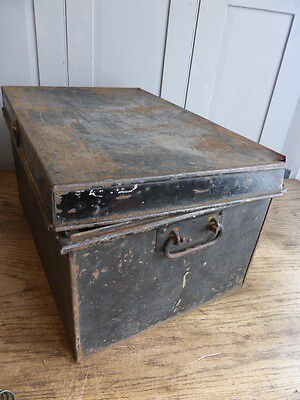 Antique metal deed box by George Hall Fetter Lane London 8