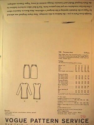 Vogue Paris Original Pattern 1446 Lanvin 2