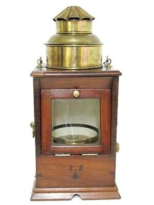 English Navy Mahogany Cased Binnacle Compass By  F Wiggins. 2