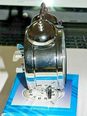 Chrome Silver Old Fashioned Alarm Clock Wind Up No Batteries Required USA Stock 4