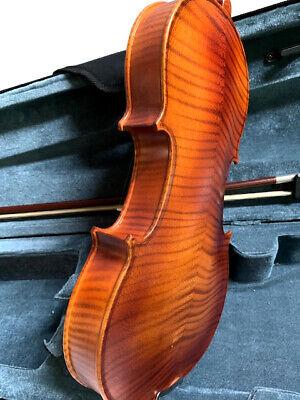 Violins-Bankruptcy-New 4/4 Adult Full Size Flame Maple Violin/Fiddle-German 4