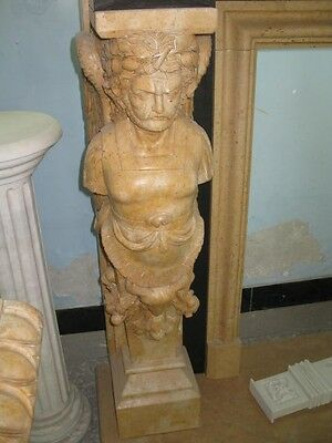 Monumental Hand Carved Figural Estate Fireplace Mantle - Hb32 6