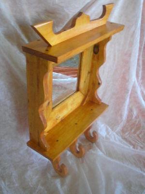 Mueble ESPEJO con colgadores y repisa, ideal para colgar, xl