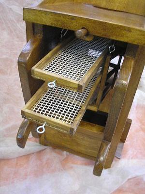LIMPIADOR de cereales de madera, nuevo, artesanal 12 • EUR 94,90