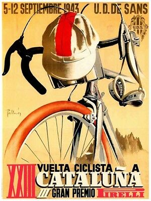 Cycling tour :  Vintage Advertising Poster reproduction