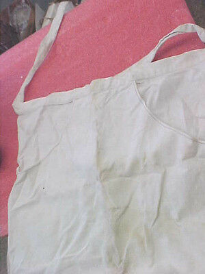 F2 Vintage Cloth Hardware nail pouch bag with tie strings OLD construction work