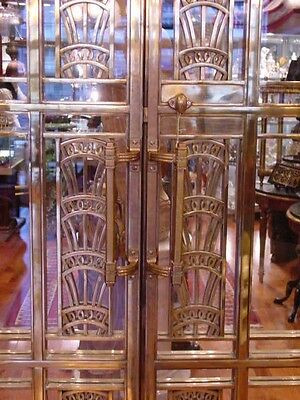 1928 Art Deco American Brass Co. Doors Monumental Architectural Masterpiece 8