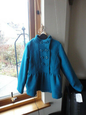 Stunning Teal Double Breasted Jacket from ONME, Size 7-8yo,New with tags 4
