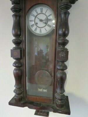 Antique German Striking Regulator Wall Clock For Restoration 4
